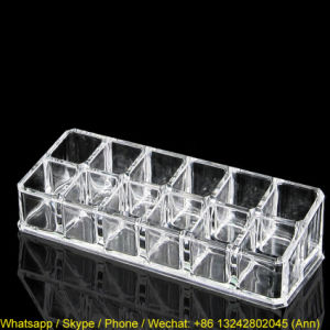 Fashionable Transparent Acrylic Lipstick Nail Polish Display Stand pictures & photos