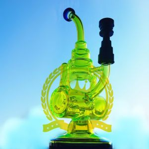 Color Painted Tobacco Recycler Smoking Glass Water Pipe pictures & photos