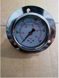 Back Connection Pressure Gauge with Flange