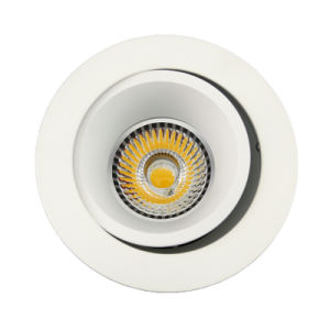 Lathe Aluminum GU10 MR16 Round Recessed Tilt Down Light (LT2204B) pictures & photos