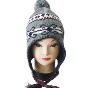 Fashion Lady Winter Jacquard Beanie Hat pictures & photos