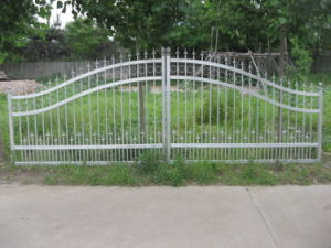 Double Swing Aluminum Gate (HLT026) pictures & photos