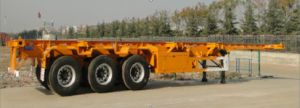 3 Axles Skeletal/Skeleton Container Semi Trailer 40FT
