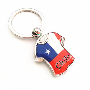 Chile Gift Sport Souvenir Print Logo Enamel Epoxy Keychain (F1118)