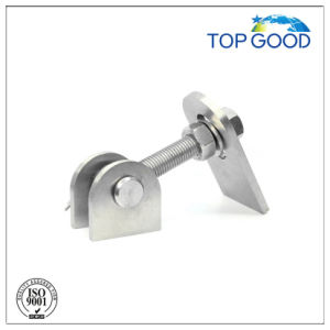 Stainless Steel with Plate Long Thread Fence Door Hinge (90100.2) pictures & photos
