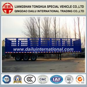 Stake /Fence Cargo /Bulk Semi Trailer to Transport Grain or Animals pictures & photos