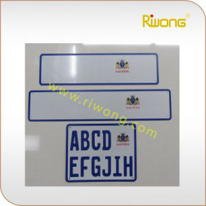 Blank Car Number Plate for South Africa, Custom Embossed Car Plates pictures & photos