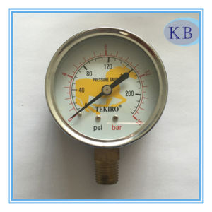 Compound Pressure Gauge 100mm pictures & photos