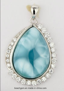 Jewellery-Sterling Silver Larimar Pendant (LR00056) pictures & photos