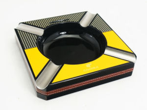 Cohiba Finish Stainless Steel Cigar Ashtray with Cutter 4 Slots (ES-EB-022) pictures & photos