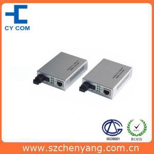 Fiber Optic Media Converter (10/100M WDM 1310&550nm single fiber SM 20Km SC)
