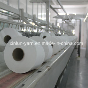100% Spun Polyester Raw White Yarn for Sewing Thread pictures & photos