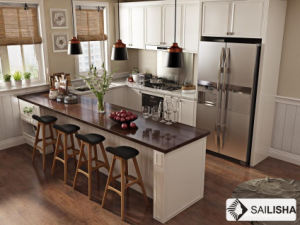 Modern Home Hotel Furniture Island French Wood Kitchen Cabinet pictures & photos
