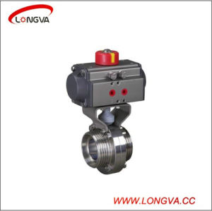 Stainless Steel Male Threaded Butterfly Valve pictures & photos