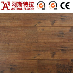 8mm HDF Brown Core V-Groove Laminated Flooring pictures & photos