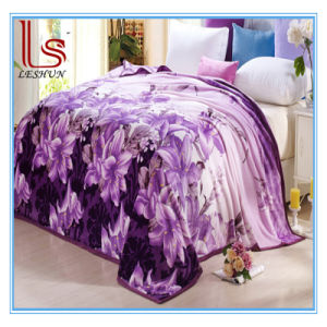 Wholesale Winter 1 Ply Thick Warm Sheet Flange Flannel Blanket Cover Coral Fleece Blanket pictures & photos