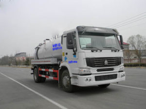 11000L Euro IV 4X2 Cleanout Suction Sewage Truck pictures & photos