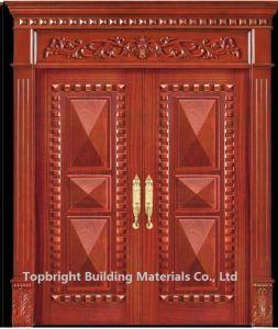 Villa Exterior Main Door Double Door Design Solid Wood House Door pictures & photos