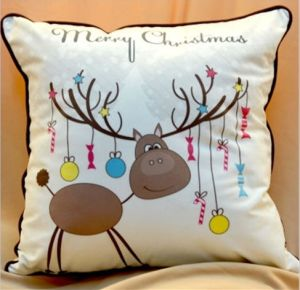 High Quality Cotton Fabric Christmas Cushions