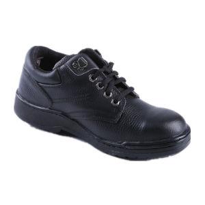 Men Black Leather Safety Shoe