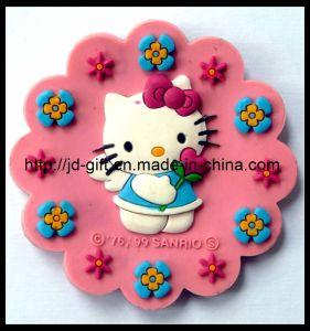 Round Shape 3D Carton Rubber PVC Fridge Magnets pictures & photos