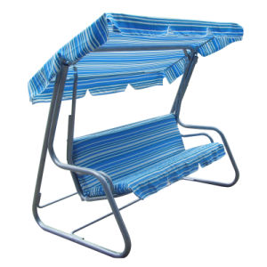 Delux 3 Person Swing Chair with Bed (C1051) pictures & photos