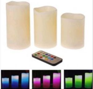 Boust Set of 3 Remote Control LED Light Candles