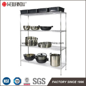 4 Layers 350kg Heavy Duty Restraurant Catering Stainless Steel Kitchen Bakeware Storage Industrial Wire Shelf Shelving pictures & photos