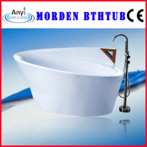 White Acrylic Morden Bathtub, Indoor Soaking SPA Tub (AT-0705)