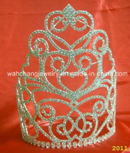 Rhinestone Pageant Tiara Crown H-38015