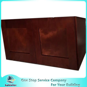 American Style Kitchen Cabinet Cherry Shaker W3012 pictures & photos