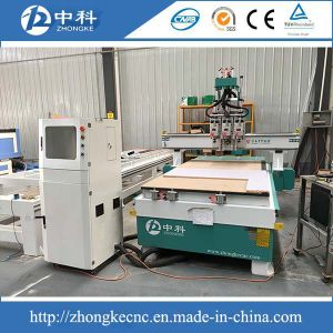 Auto Shifting Three Heads Wood Cutting Machine for Cabinets pictures & photos