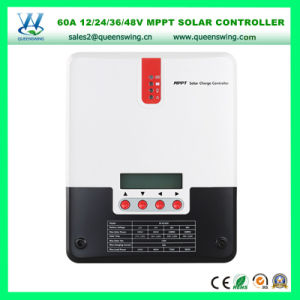 Auto 12/24/36/48V 60A Controller MPPT Solar Charge Controller (QW-ML4860A) pictures & photos