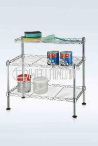 Adjustable Chrome Shelf Rack, Kitchen Wire Rack Shelf (CJ452043C2) pictures & photos