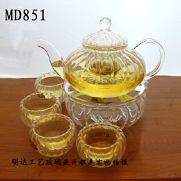 Md851 Kitchen Ware Glass Teaset Pot Cup pictures & photos