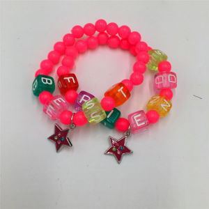 Beautiful Beads Bracelet with Alloy Stars pendant Fashion Jewelry