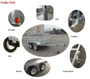 Best-Selling Heavy Duty Tandem Axle Box Trailer with Cage pictures & photos