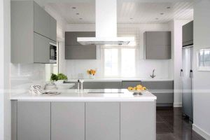 Home Furniture PVC High Gloss Kitchen Cabinet pictures & photos