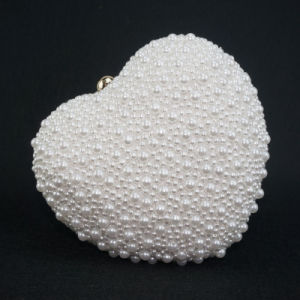 The Most Luxury Lady Hand Hold Heart Shape Evening Bag for Party pictures & photos