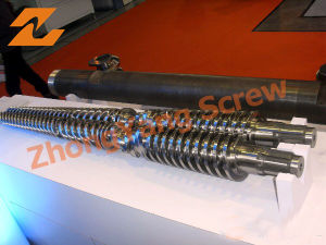 Double Screw Barrel Conical Twin Screw Barrel pictures & photos