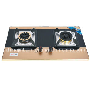 2 Burner Tempered Glass Brass Cap Built-in Hob pictures & photos