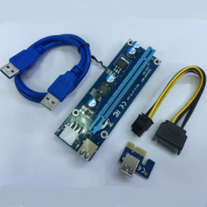 PCI-E Express Riser with 6pin Power Cable for Bitcoin Mining pictures & photos