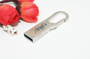 USB Flash drive OEM Logo Carabiner Engaging Metal USB Stick Flash Card USB Memory Stick Pendrives USB Flash Disk USB Thumb Drive Flash Card pictures & photos
