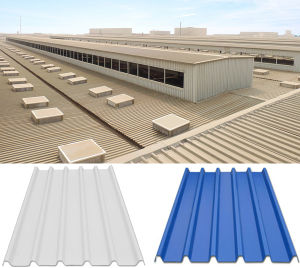 Color Coated Corrugated UPVC Roofing Panel pictures & photos