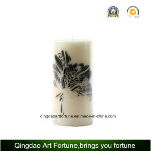 Carved Pillar Candle with Debossed Pattern for Home Decoration Supplier pictures & photos