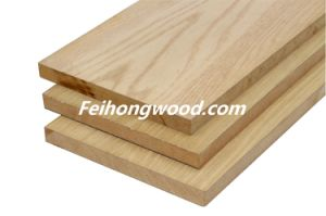 Red Oak Veneered MDF (Medium-density fiberboard) for Furniture