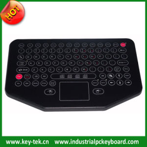 IP65 Dynamic Industrial Membrane Keyboard with Integrated Touchpad