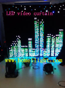 Animated LED RGB Pattern Cutain with CE Wedding Party Pub Decoration pictures & photos