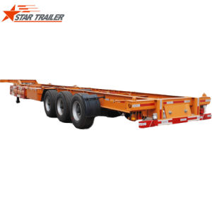 Dropside Semitrailer for Container Transporting with 3 Axles pictures & photos