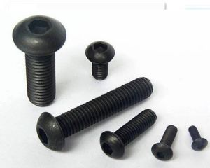 Hex Socket Button Head Cap Screw ISO7380 with Grade 10.9 Black Finished